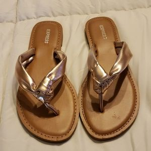 Express Rose Gold Sandals, 8